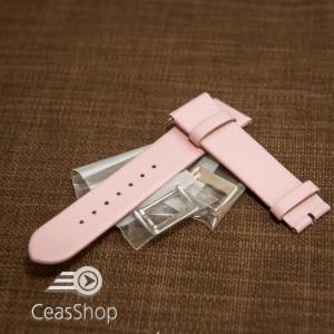 Curea roz piele vitel plată  10mm - 30737