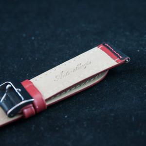 Curea sport doua tonuri neagra cu rosu - antialergica 20mm