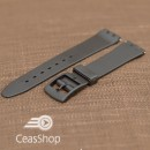 Curea tip Swatch 14 mm neagra - 30993