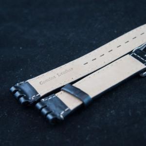 Curea tip SWATCH 19 mm neagra - 34008