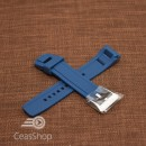 Curea cauciuc originala Seiko Velatura albastra - 22mm