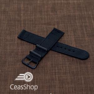 Curea din tesatura de nylon neagra 18mm - 40022