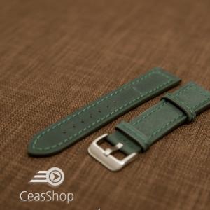 Curea piele verde 20 mm - 42221