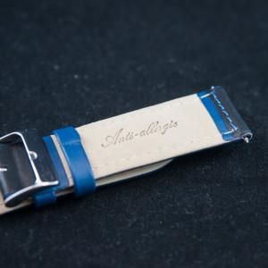 Curea sport doua tonuri neagra cu albastru - antialergica 20mm - 31664