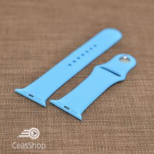 Curea silicon albastră iWatch - 42mm