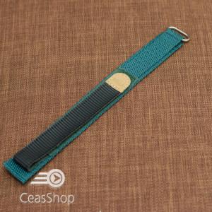 Curea din tesatura de nylon verde sport cu arici 18mm - 34904