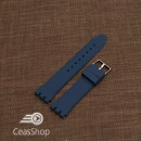 Curea din silicon tip SWATCH 19 mm albastru navy - 49193