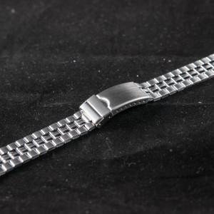 Bratara metalica reglabila argintie capete drepte 16 - 21mm - 20488