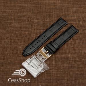 Curea piele captusita neagră 22mm - XL - 46296