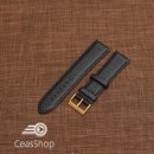 Curea piele VERONA neagra, captusita  20mm -XL- 46329
