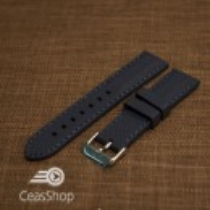 Curea silicon navy cusături albastre 18mm - 42321