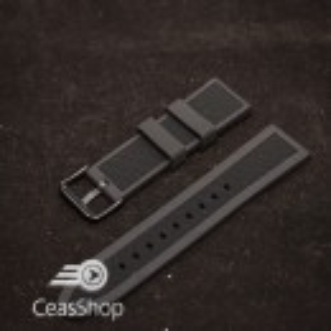Curea  silicon neagra ceas sport  24mm - 38068