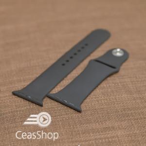 Curea silicon neagră iWatch - 38mm