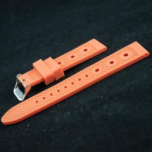 Curea silicon sport GRAND PRIX portocalie cu negru 24mm - 38166