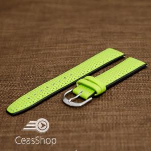 Curea sport doua tonuri- verde cu negru fluorescenta 20mm-33593