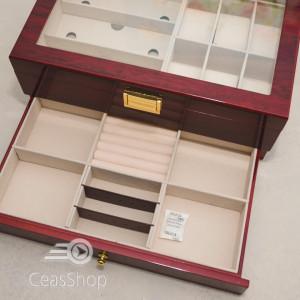 Cutie lemn pentru bijuterii, ochelari si ceasuri