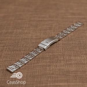 Bratara dama metalica argintie  12mm - 39370