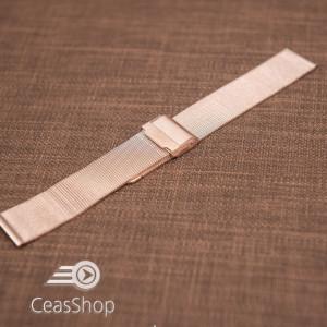 Bratara milaneza fina culoare aur roz 14mm -48846