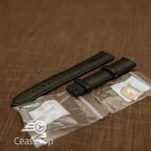 Curea neagra piele vitel model soparla captusita 14mm - 35963