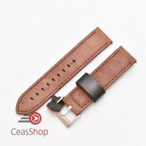 Curea piele maro inchis vintage QR 22mm - 3990222