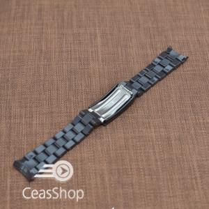 Curea plastic neagra capat curbat 20mm - 31851
