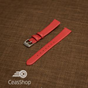 Curea roșie piele vițel plată 18mm - 30723