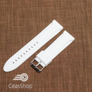 Curea silicon albă 22mm - 47092