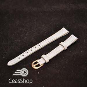 Curea dama captusita alba 10mm - 12323