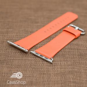 Curea piele portocalie iWatch - 38mm