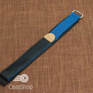 Curea din tesatura de nylon albastra(navy) sport cu arici 18mm - 20450