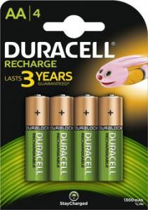 Acumulatori Duracell R6/AA, 1300 mAh - blister 4 bucati