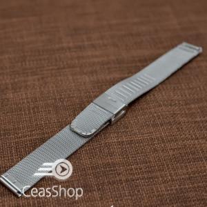Bratara milaneza fina argintie 18mm -39864