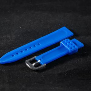 Curea ceas sport 20 mm albastra - 34584