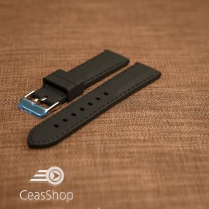 Curea silicon neagră cusături negre 20mm - 42278