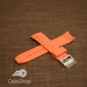 Curea silicon portocalie capat curbat 20mm - 43406