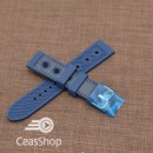 Curea silicon sport GRAND PRIX navy cusaturi albastre navy 24mm - 38149