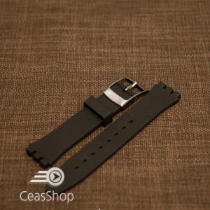 Curea silicon tip Swatch 19 mm neagră