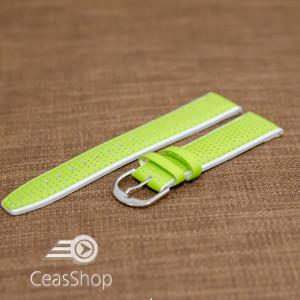 Curea sport doua tonuri- verde cu alb fluorescenta 20mm-33592