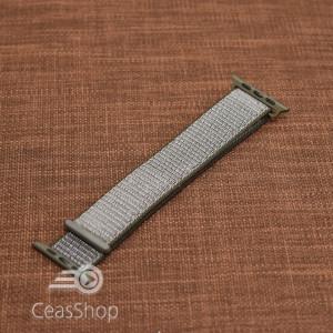 Curea tesatura tip NATO pentru Apple Watch olive inchis - 42mm