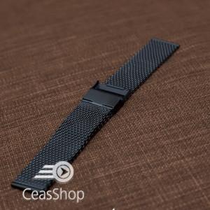 Bratara milaneza neagra 22mm XXL - 54006
