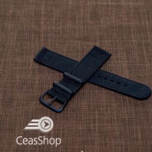Curea din tesatura de nylon neagra 20mm - 40024