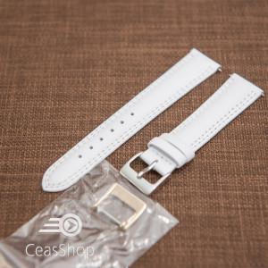 Curea piele lină, căptușită ,cusatură dublă albă 18mm - 42856