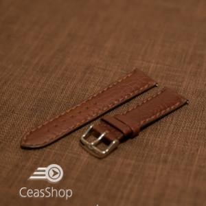 Curea piele Napoli captusita maro inchis 22mm - 19717