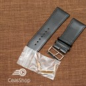 Curea piele vitel plata neagra 32mm - 34874