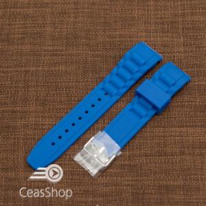 Curea silicon albastra capat curbat 20mm - 47805