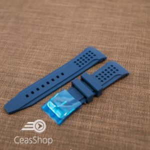 Curea silicon albastră capat curbat 22mm - 42327