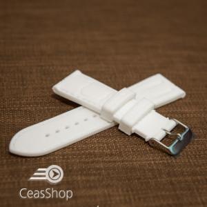 Curea silicon model crocodil albă 22mm - 45921
