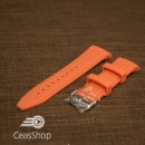 Curea silicon portocalie capat curbat 22mm - 43395
