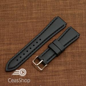 Curea silicon sport neagră 20mm(23mm) - 20485