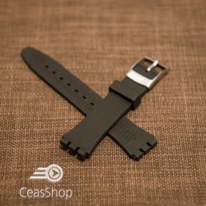 Curea silicon tip Swatch 17 mm neagră